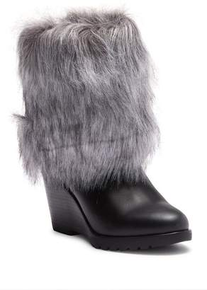 Sorel Park City Faux Fur Cuff Wedge Boot