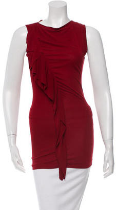 Jean Paul Gaultier Ruffle-Accented Tunic $75 thestylecure.com