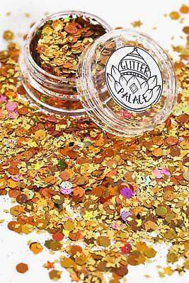 boohoo NEW Womens Glitter Palace Tiger Glitter Pot in Gold size One Size