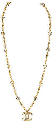 One Kings Lane Vintage Chanel Long Crystal Pendant Necklace - Vintage Lux