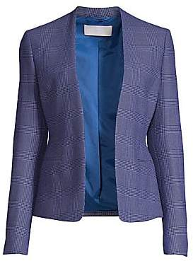 BOSS Women's Jalesta Glencheck Open-Front Stretch Suiting Jacket