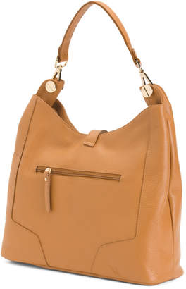 Made In Italy Large Leather Hobo