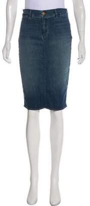 J Brand Knee-Length Printed Skirt