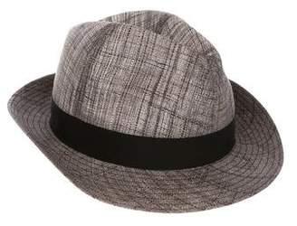 Borsalino Straw Fedora Hat