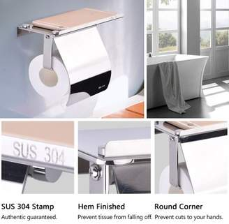 TMISHION Wall Mounted Tissue Holder,Bathroom Toilet Paper Holder 304 Stainless Steel