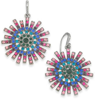 INC International Concepts I.N.C. Hematite-Tone Crystal Burst Drop Earrings, Created for Macy's