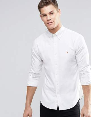 Polo Ralph Lauren Oxford Shirt In Slim Fit White