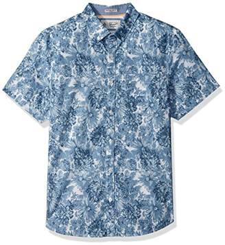 Original Penguin Men's Short Sleeve Floral Shirt With Stretch