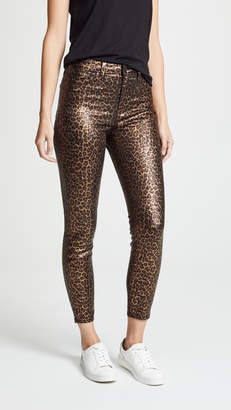 L'Agence Margot High Rise Foil Skinny Jeans