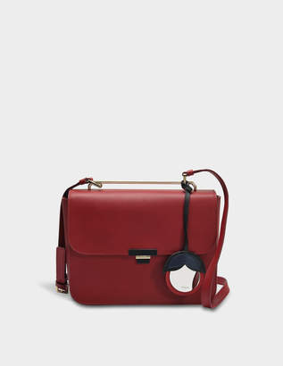 Furla Elisir S Crossbody Bag in Cherry Calfskin