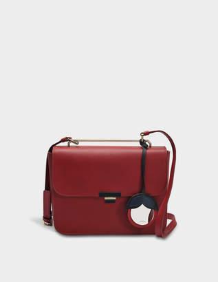 Furla Elisir S Crossbody Bag in Cherry Calfskin