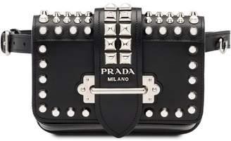 Prada cahier studded belt bag