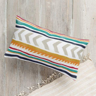 Beach Blanket Stripe Lumbar Pillow