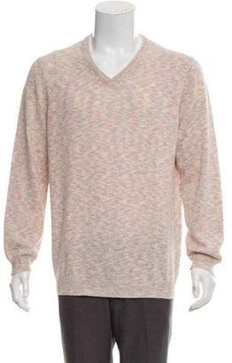 Malo Silk-Cashmere V-neck Sweater