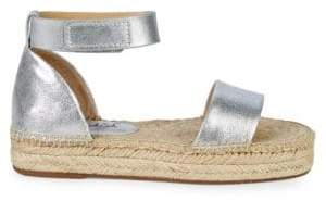 Splendid Jensen Metallic Leather Flat Espadrilles