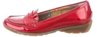 Aquatalia Patent Leather Round-Toe Loafers