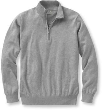 L.L. Bean L.L.Bean Cotton/Cashmere Sweater, Quarter-Zip