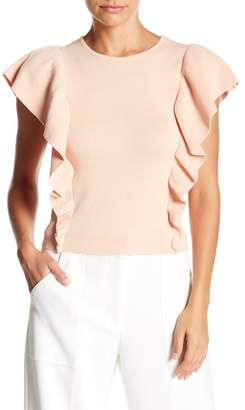 Lucy Paris Short Sleeve Ruffle Blouse