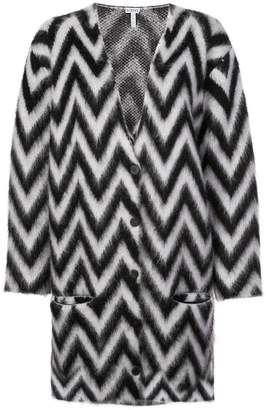 Loewe chevron stripe oversize cardigan