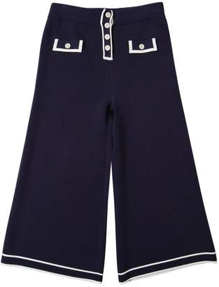 Emporio Armani Viscose Knit Wide Leg Pants