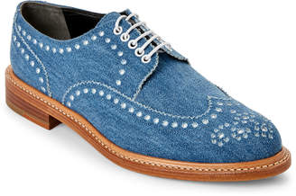 Robert Clergerie Roeld Denim Brogue Oxfords