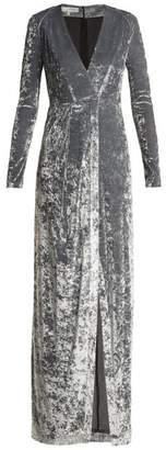 Galvan - Cloud Hammered Velvet Dress - Womens - Silver
