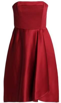 Halston Strapless Duchesse-Satin And Faille Dress