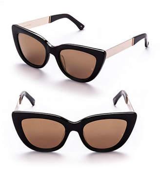 Cat Eye SUNDAY SOMEWHERE Laura 54mm Cat-Eye Metal Sunglasses