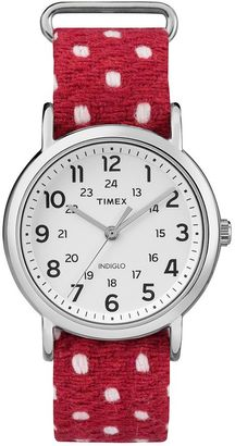 Timex Women's Weekender Polka Dot Watch - TW2R10400JT $49.99 thestylecure.com