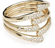 Ippolita 18k Stardust Diamond Overlap Ring