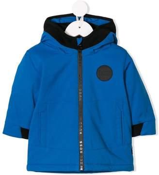 HUGO BOSS hooded logo plaque jacket