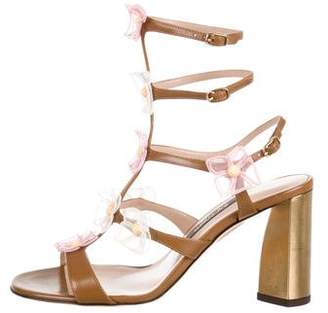 Zac Posen Leather Embellished Sandals w/ Tags