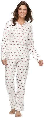 Croft & Barrow Women's Henley Tee & Pants Pajama Set