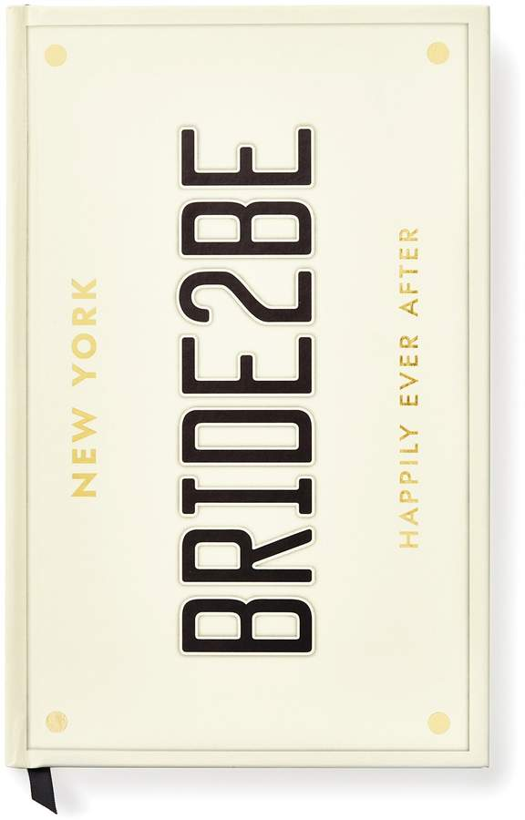 Bride 2 Be License Plate Wedding Notebook