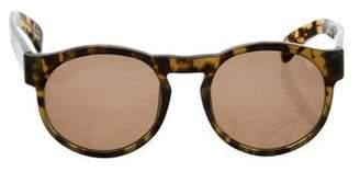 Dries Van Noten Linda Farrow x Tortoiseshell Round Sunglasses