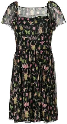 RED Valentino insect print dress