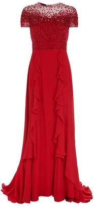 Escada Glessiva Embellished Gown