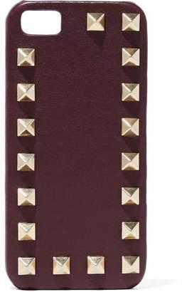 Valentino Rockstud Leather Iphone Case