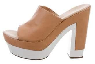 Diane von Furstenberg Bicolor Slide Sandals