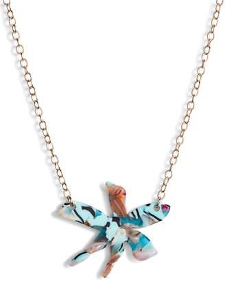 Lele Sadoughi Water Lily Pendant Necklace