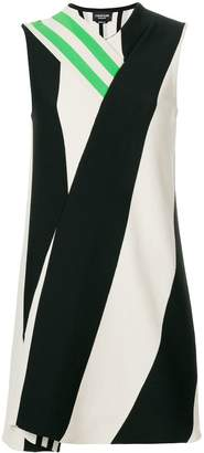 Calvin Klein asymmetric paneled dress