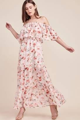 BB Dakota Ruffle Off-The-Shoulder Dress