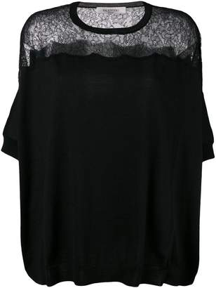 Valentino scalloped lace top