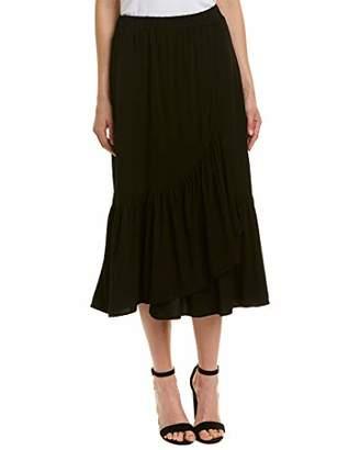 Michael Stars Women's Rylie Rayon Wrapped midi Skirt