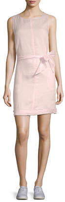 Saks Fifth Avenue Fringe-Trimmed Linen Shift Dress