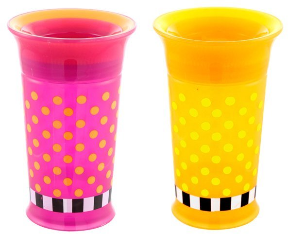 Sassy Grow Up Cup - Pink/Yellow - 9 oz - 2 ct