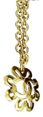 Chanel Gold Tone Metal and Rhinestone Pendant Necklace