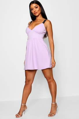 boohoo Embellished Strappy Skater Dress