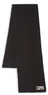 Class Roberto Cavalli Ribbed-Knit Wool Scarf