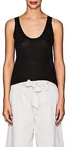 Nili Lotan Women's San Marcos Slub-Knit Linen Tank - Black